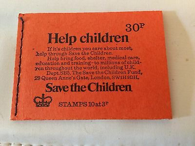 GB 1974 DQ73 30p Save The Children Stitched Stamp Booklet (SPRING 1974)