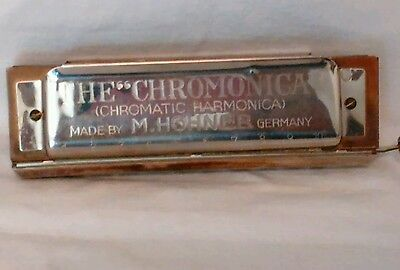 Rare Hohner Chromonica 260 Harmonica In Original Case Made In Germany