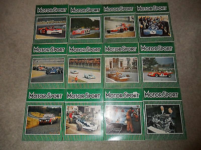 All 12 MOTOR SPORT Car Magazines From 1971