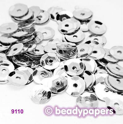 Cup Plastic Sequins 6 - 7 mm Silver 50 g, 30 g, 15 g 9110