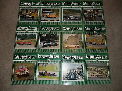All 12 MOTOR SPORT Car Magazines From 1969
