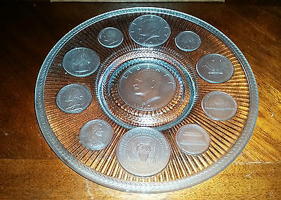 Imperial Glass CRYSTAL  COINS  PLATE