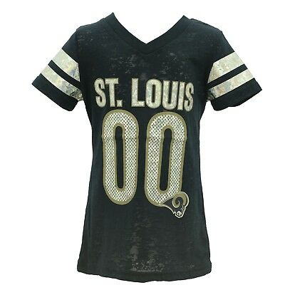 St. Louis Rams Official NFL Apparel Youth Kids Girls Size Sheer Shirt New  Tags 5cdee2000