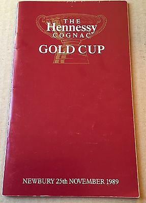 Horse Racing Programme - Newbury 25/11/1989 - Hennessy Gold Cup
