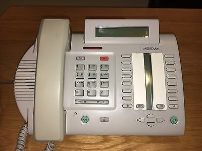 Meridian telephone, M3820. system telephone. Meridian system.