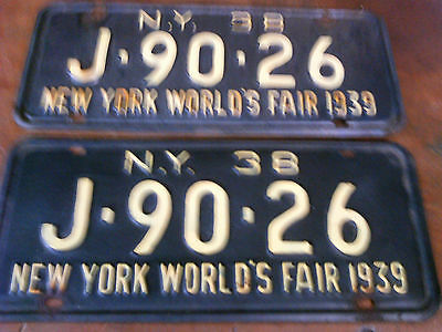 1938 New York Licence Plates
