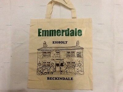 Emmerdale Bag. Cream And Green Cotton.