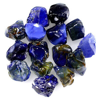 UNHEATED! 15pcs, 18.85ct NATURAL100% UNHEATED BLUE SAPPHIRE ROUGH SPECIMEN NR!