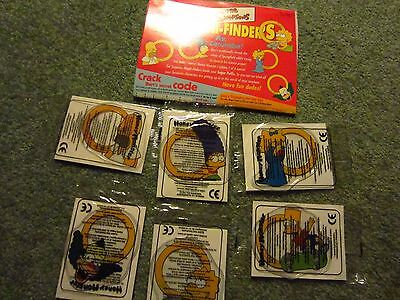 Simpsons Kellogs Set Of 6 Magnifiers Still In Packages
