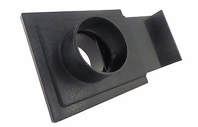 "2.5"" ABS Plastic Blast Gate 2.5"" OD Openings on Both Sides Dust Collection 73449"