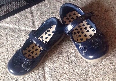 Girls Size 9 Blue Shoes Heart Party George