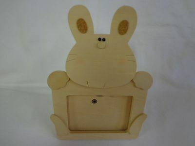 Vintage 1980s Applause Funny Face picture frame Bunny for baby or Easter