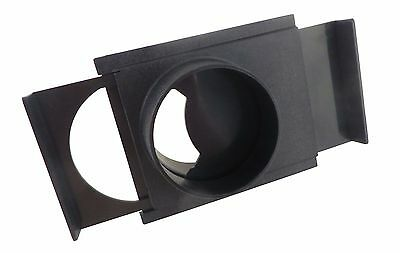 "4"" ABS Plastic Self Cleaning No Clog Blast Gate 4"" OD Openings Both Ends  73462"