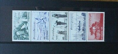 SWEDEN 1977 Tourism Roslagen. Strip of 5. Mint Never Hinged. SG927/931.