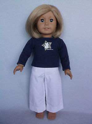 American Girl Kit Doll, Blonde Hair, Blue Eyes, Freckles, AG Clothes - 2008 Tag