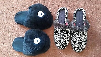 Women's slippers shoes by H&M and Isotoner, size 5