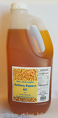 2ltr Buttery Popcorn Oil, Avaliable in 500mls, 1ltrs, 2ltr, & 4ltr Bottles