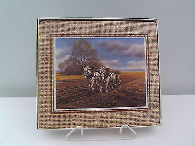 Set Of 6 Table Placemats Of Shire Horses