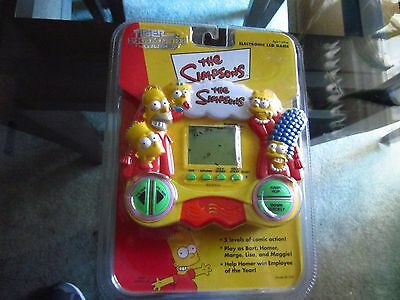 Simpsons Electronic Lcd Game By Tiger 1999 Rare Mip