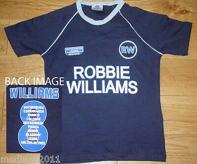 Robbie Williams Intensive Care 2006 Concert Tour Skinny Blue T Shirt S New