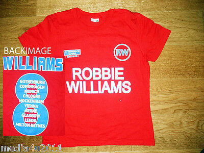 Robbie Williams Intensive Care 2006 Concert Tour Skinny Red T Shirt S New