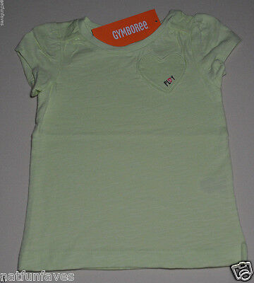 Gymboree toddler girl play green shirt top size 3 3T NWT 100% cotton