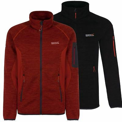 68% OFF RRP Regatta Collumbus II Lightweight Mens Full Zip Knit Fleece Jacket