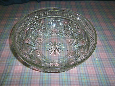 "Glass fruit bowl 10"" approx"