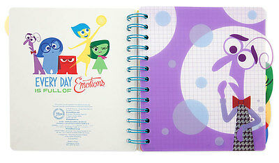 Disney Pixar Inside Out Note Book Journal Sadness Joy Anger  New