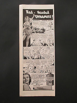 """Vintage 1938 Pepsodent Tooth Powder Print Ad, 13.875"""" X 5.375"""""""