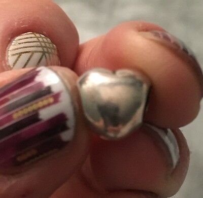 925 Sterling Silver 4mm Core Heart Bead Charm / Hearts / Beads / Love