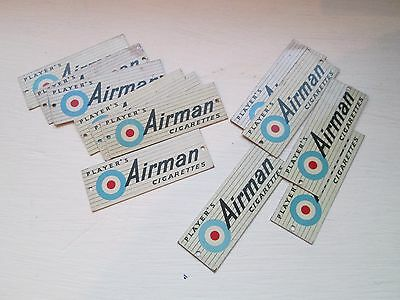 12 X Model Railway Miniature Tinplate Signs PLAYERS AIRMAN CIGARETTES O Gauge
