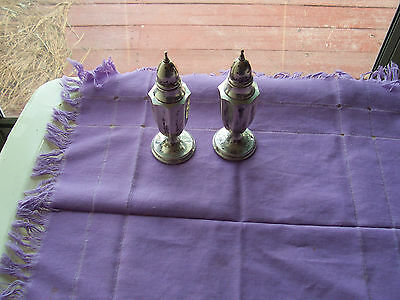 "Vintage Sterling Silver Salt & Pepper Shakers- 5"" Tall- Marked  M  S.s 067"