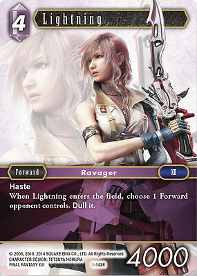 Lightning -  1-142R RARE - NM - Final Fantasy TCG - OPUS 1