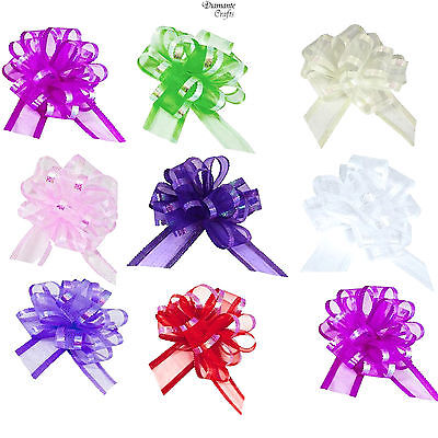 50mm Pull Organza Bows - Large - Wedding Car Decoration Gift Wrap Floristry