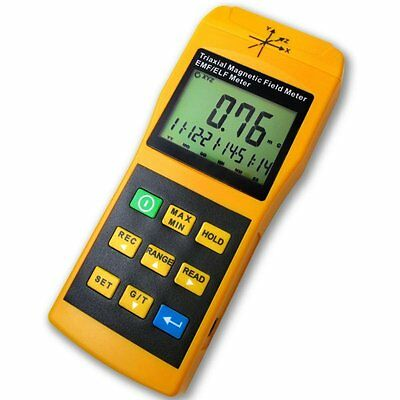 Digital Gauss 3 Axis EMF ELF Magnetic Field 2000mG Meter