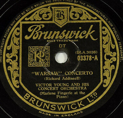Schellackplatte - Victor Young - Warsaw Concerto f. Grammophon gramophone record