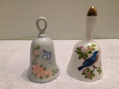 Lot of 2 Vintage Blue Jay Bells  1 Signed