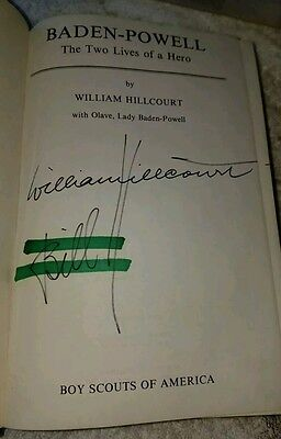 BADEN POWELL SCOUT The Two Lives Of A Hero Signed Copy WILLIAM HILLCOURT  Book