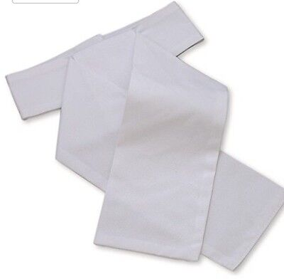 SHIRES Plain White Cotton Stock - Hunting Showing Dressage - Small £10.50