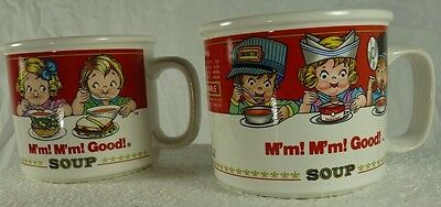 Pair of Campbell Soup Licensed Westwood Oversize Coffee/Soup Mugs 14oz 1993