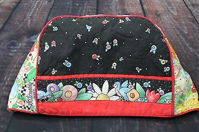 Mary Engelbreit-like fabric Love One Another Cotton Toaster Cover Cozy Reversibl