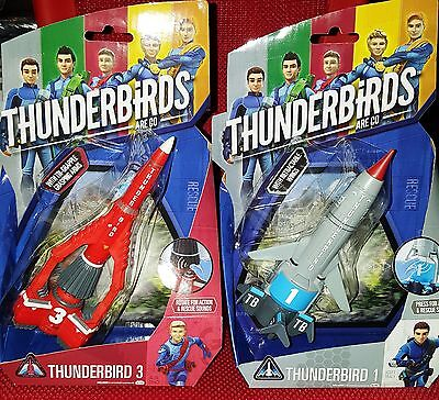 Thunderbirds Are Go! Thunderbird 1 & 3 Action Vehicles New Sealed