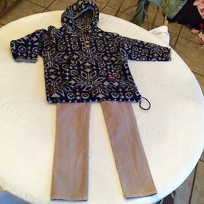 Oilily Girl's Sz 116 (6X) Pullover Shirt/Jacket & Gray Cords Size  7