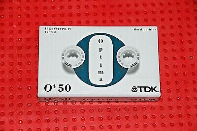Tdk  Optima Iv    50  Type Iv  Blank Cassette Tape (Sealed)