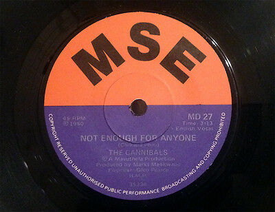 """THE CANNIBALS - 1980 killer South African soul/funk/disco - """"Not Enough.."""" - VG+"""