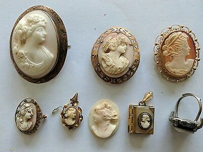 Cameo Brooch Ring Collection