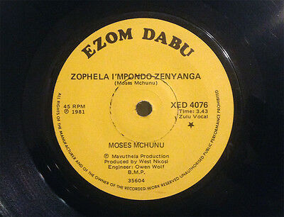 MOSES MCHUNU - 1981 South African Zulu traditional vocals - VG+