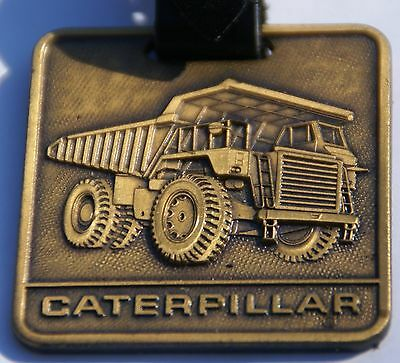 Caterpillar Watch Fob Bronze Medal with Leather Strap