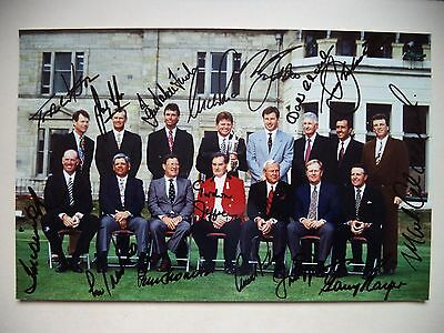 British Open Golf Champions Multi-Signed Photograph 1995 Inc Seve, Jack & Arnold